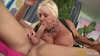 Golden Biotch - Older Lady Blowjob Compilation Part Twenty one